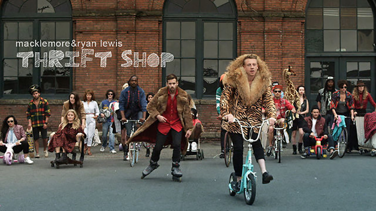 Q-music Muziekbeleid Macklemore Thrift Shop